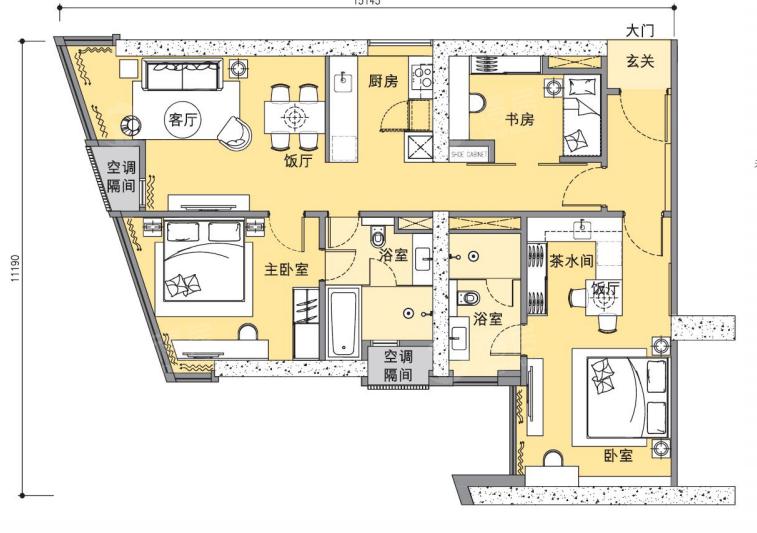 Ascott Star Residences户型图 - 得居海外房产