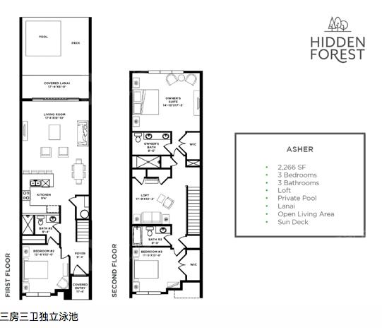 HIDDEN FOREST 隐秘森林度假社区户型图 - 得居海外房产
