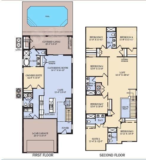 奥兰多度假社区Windsor at Westside三期户型图 - 得居海外房产